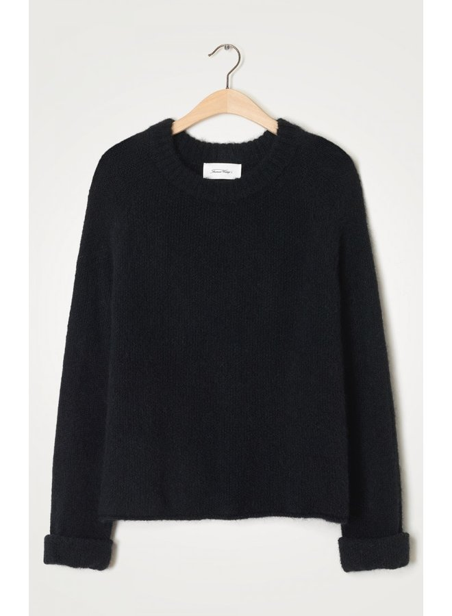 East O Neck Knit - Black