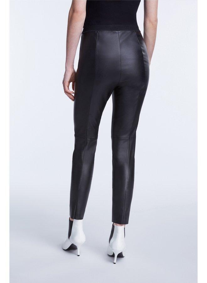 Vegan Faux Leather Legging - Black