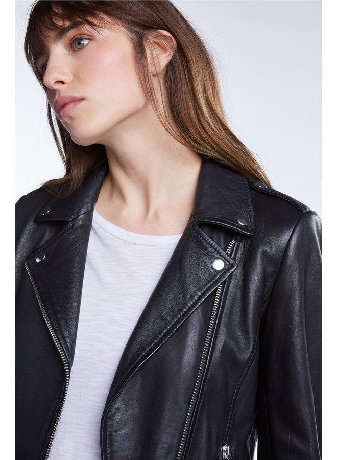 Tyler Leather Jacket - Black