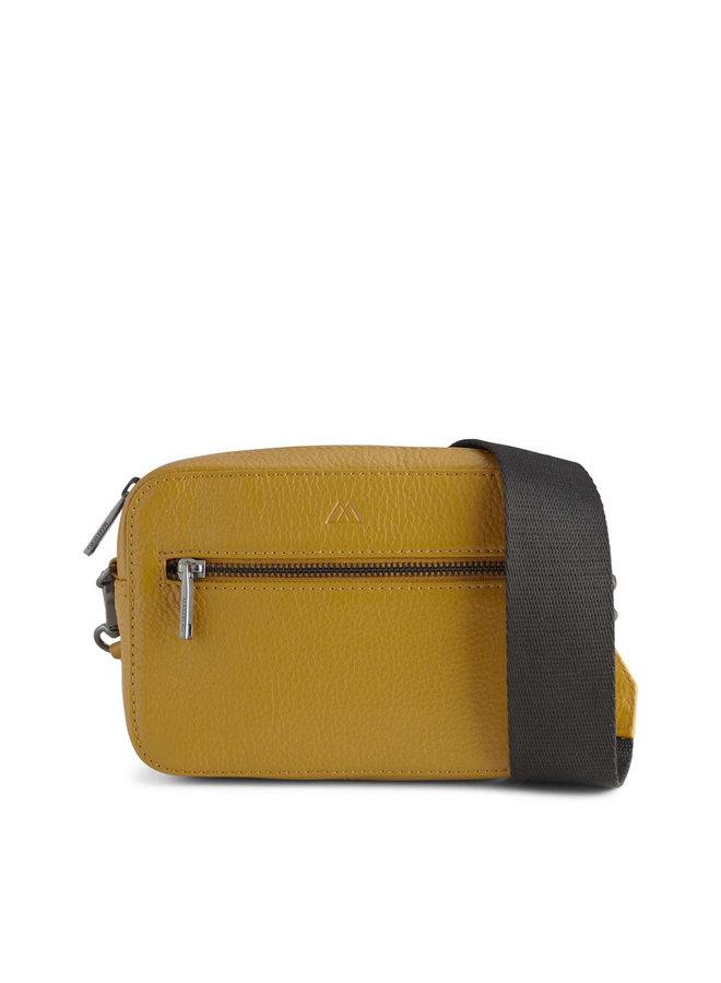 Elea Grain Crossbody Bag - Amber/Black