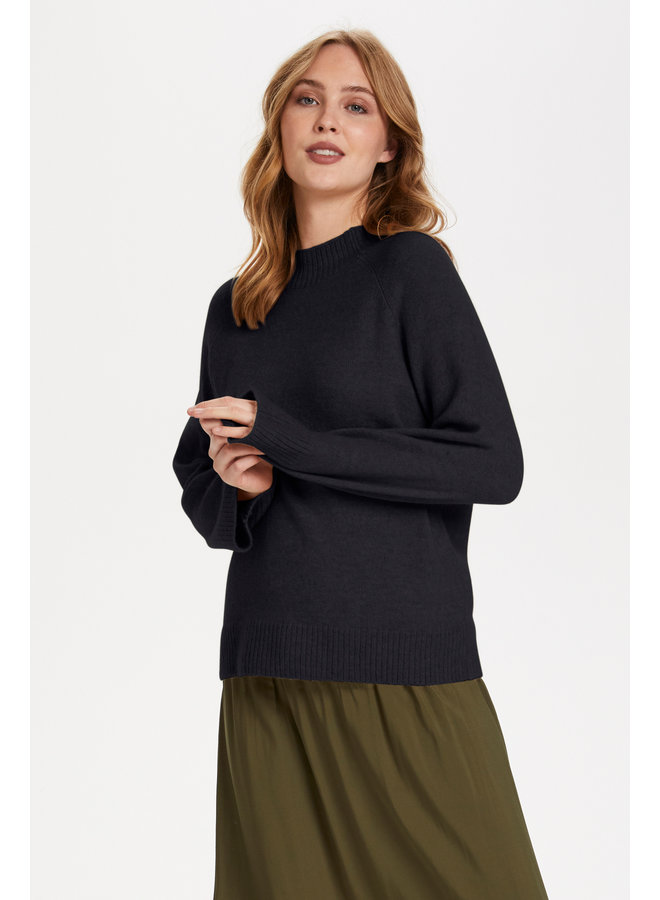 Cleo High Neck Pullover - Blue Deep
