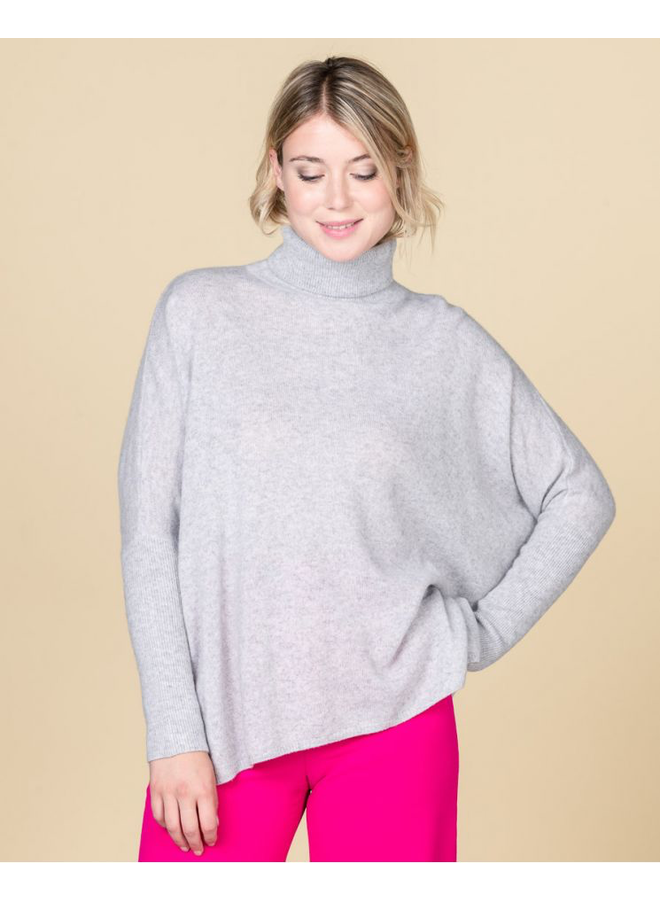 Clara Slouchy Roll Neck - Gris Chine