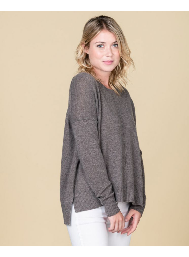 Kenza Slouchy Knit - Taupe Chine