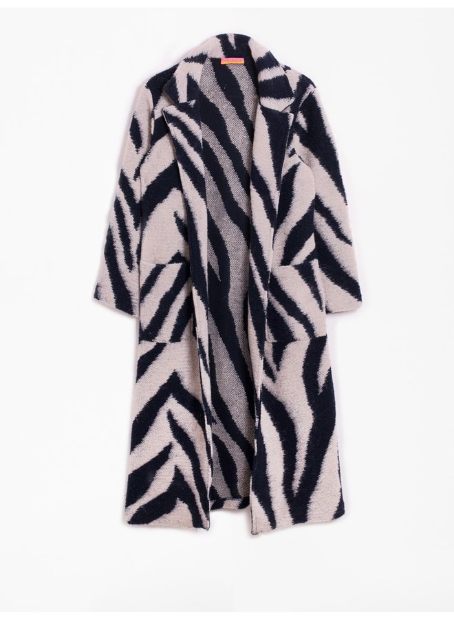Emma Cardi Coat - Zebra