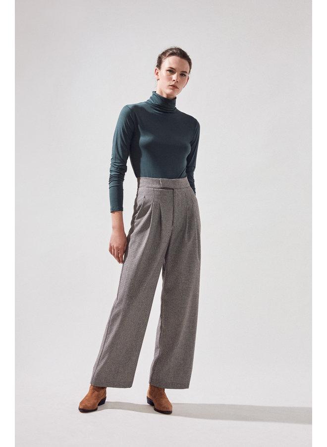 Joliver Tweed Wide Leg Trouser - Beige