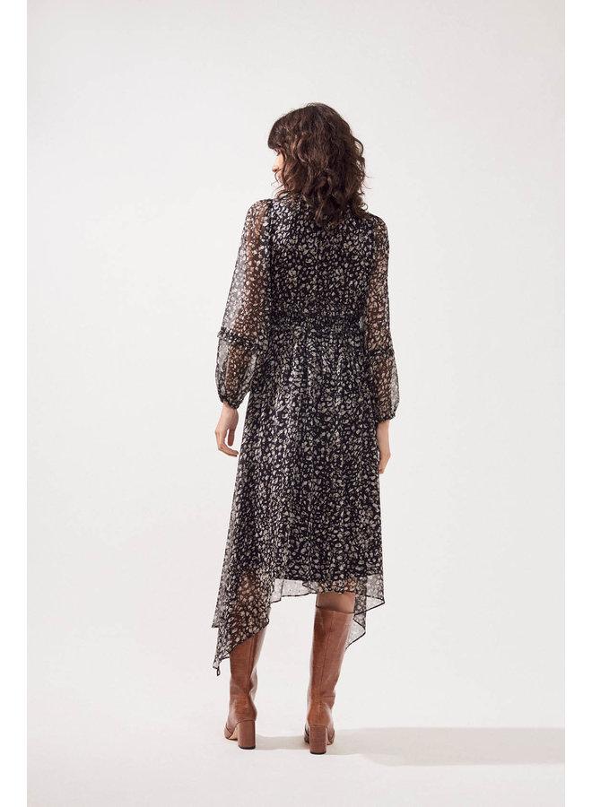 Chamila Lurex Fleck Dress - Noir