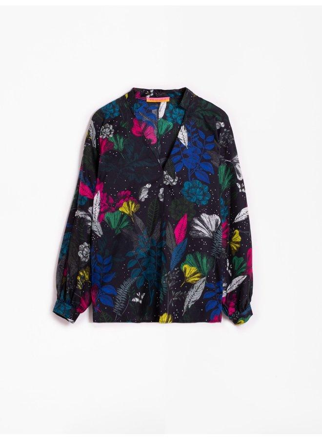 Maya Silk Shirt - Night
