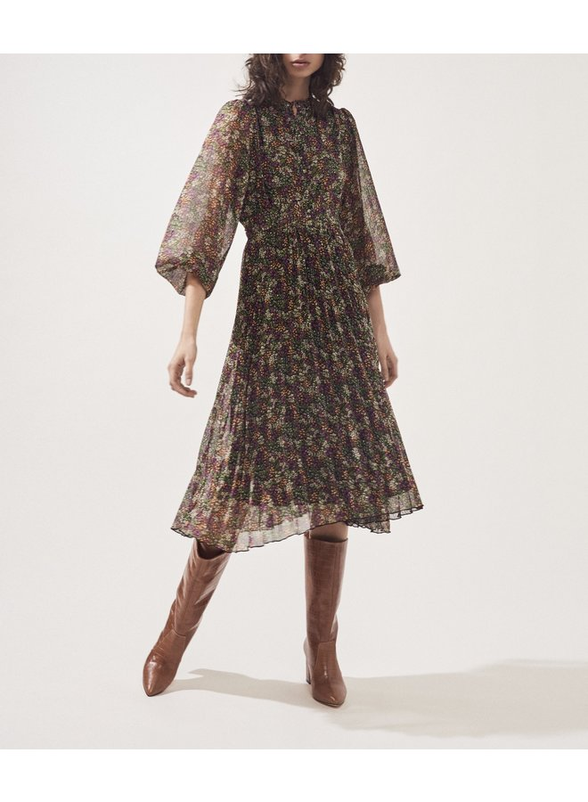 Coralie Tie Waist Dress - Vert