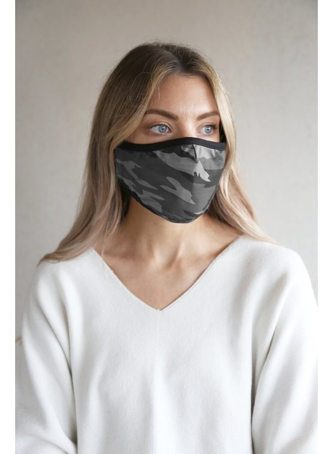Breathe Face Mask - Grey Camo