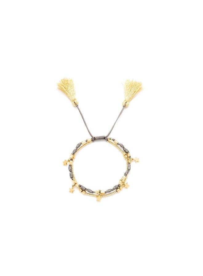Oboe, Gold, Star Bracelet