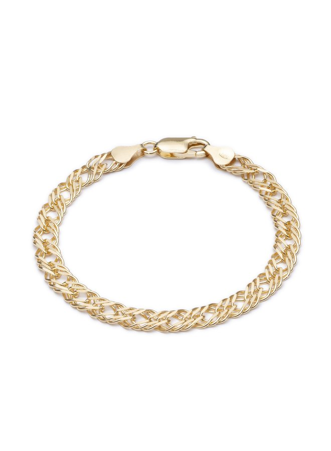 DCB7GP Statement Chevron Chain Bracelet - Gold