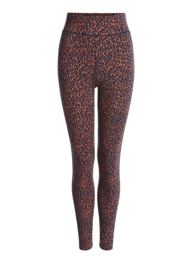 Leggings with leopard print - Black/brown