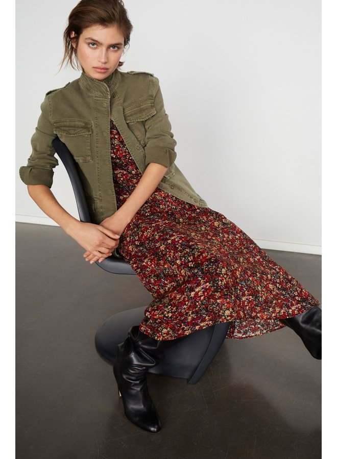 Midi Dress - Black/Red