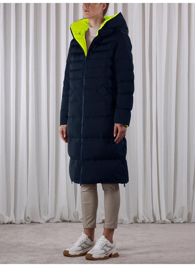 Keila Coat - Navy/Lime
