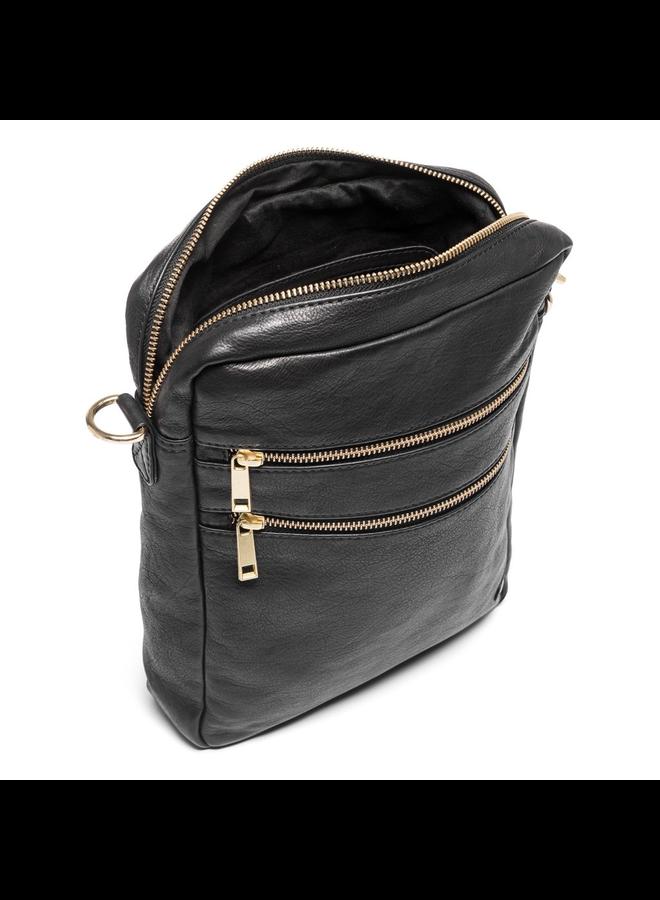 Cross Body Zip Bag - Black