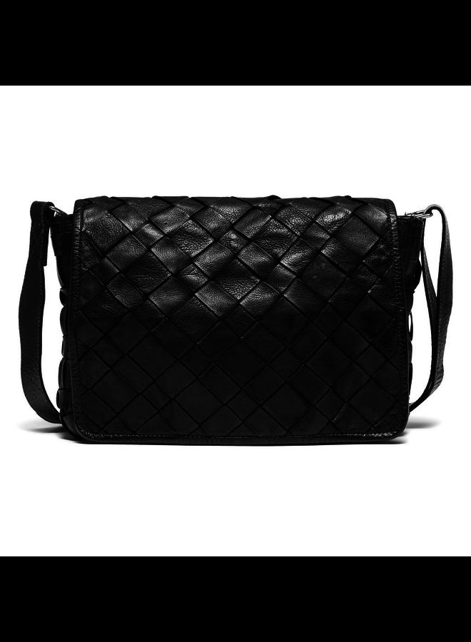 Lattice Cross Body Bag - Black