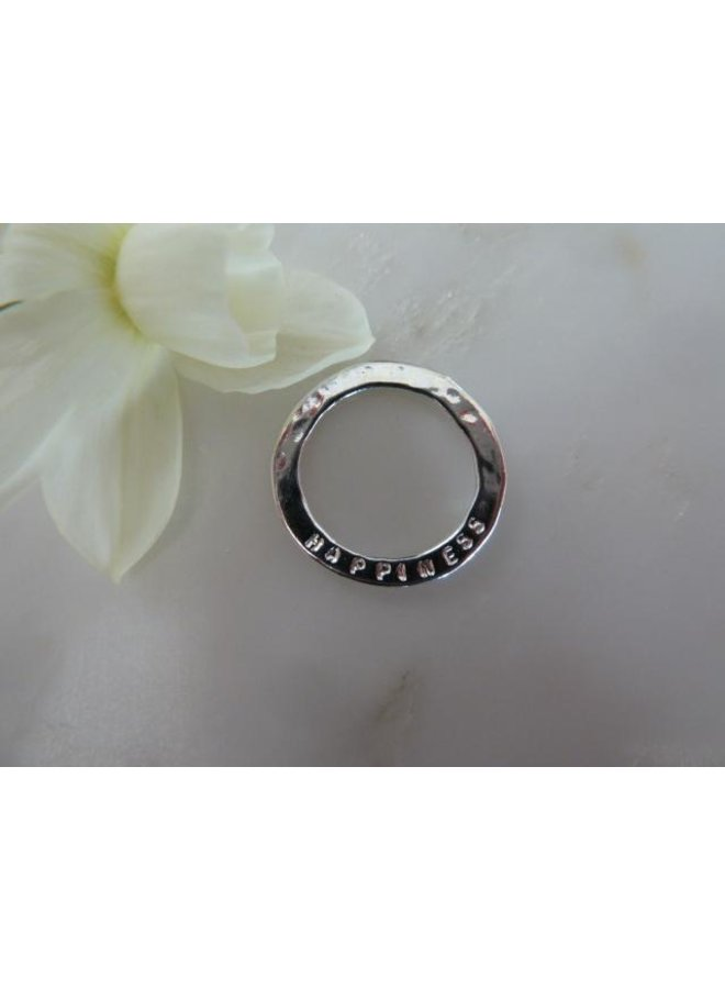 MH721T - Happiness sentiment disc - Silver