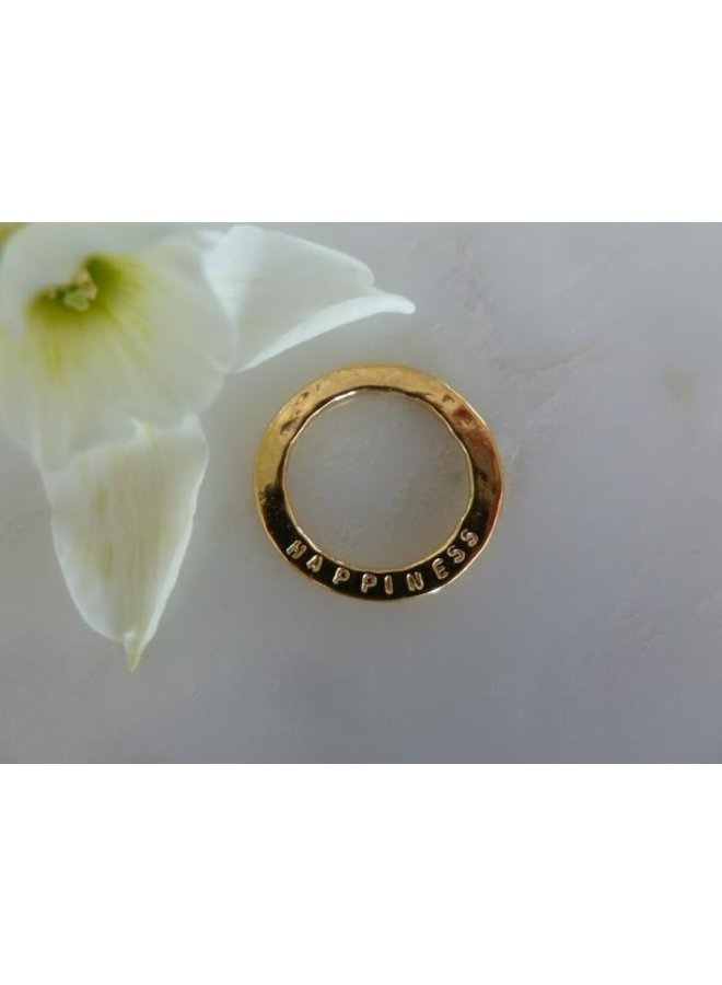 MH721T - Happiness sentiment disc - Gold