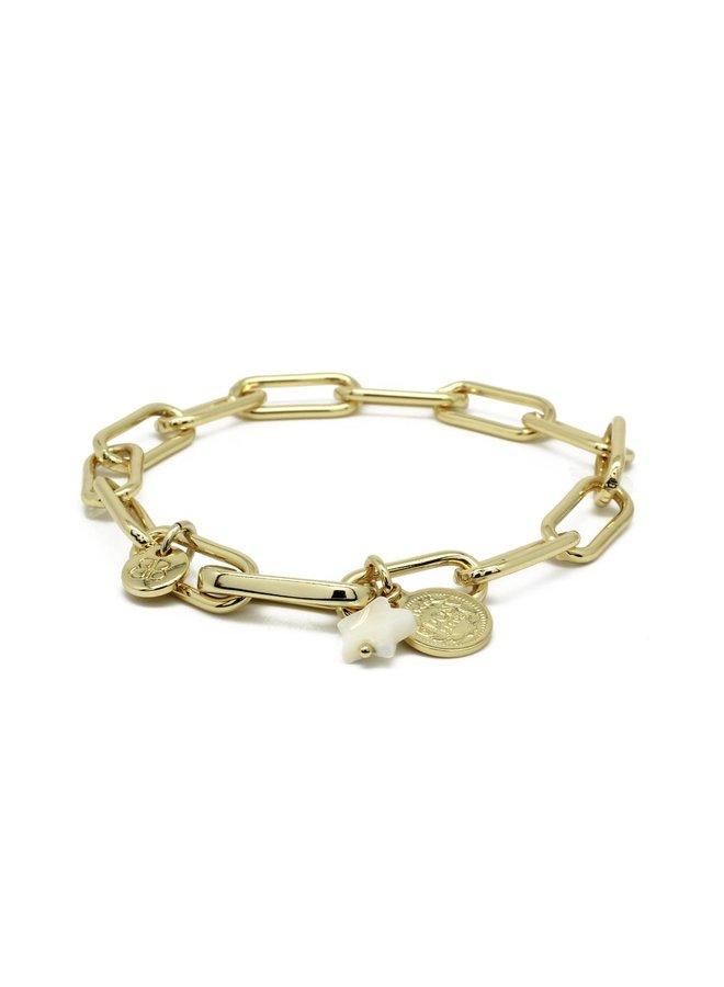 Ukelele Bracelet - Gold