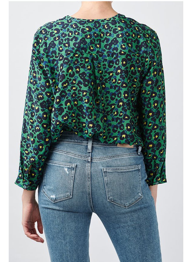 Stanford blouse - Painterly Animal Electric
