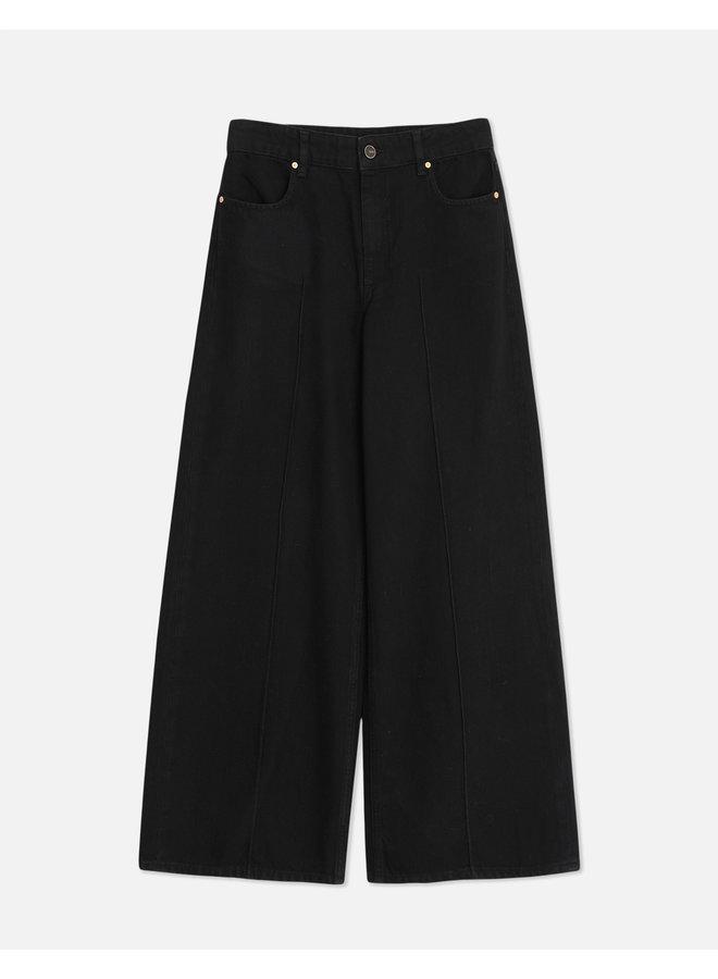 Poppy Wide Leg Jeans - Denim Black