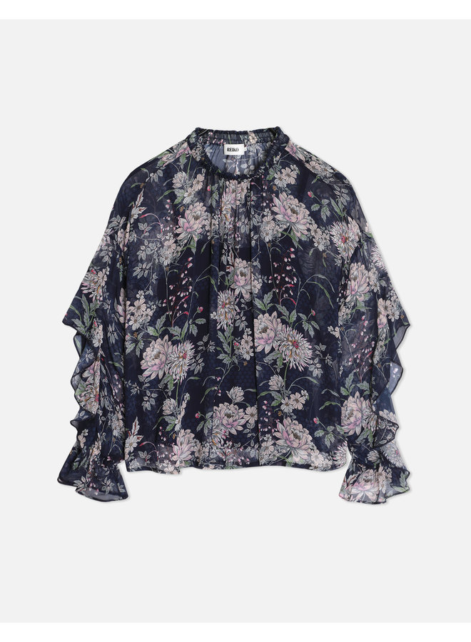 Becky Ruffle Blouse - Japanese Blossom