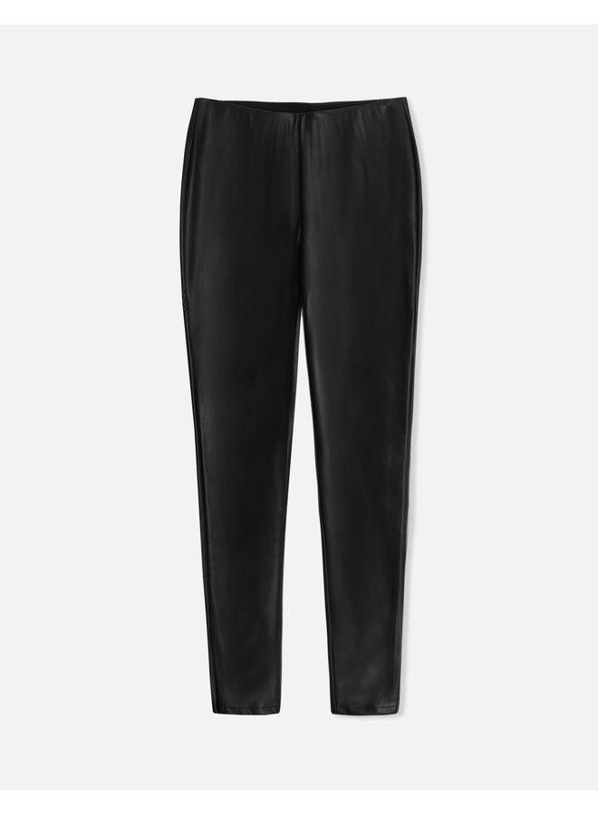 Olga Faux Leather Leggings - Black