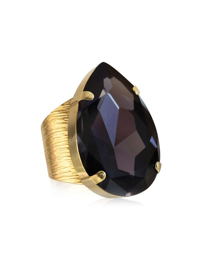 Perfect Drop Ring - Gold Graphite