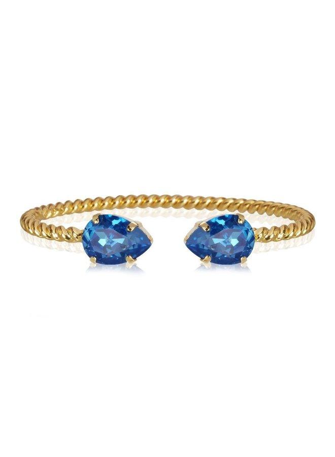 Mini Drop Bracelet - Gold Royal Blue Delite