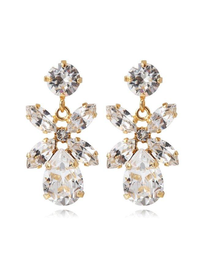 Mini Dione earring - Gold Crystal