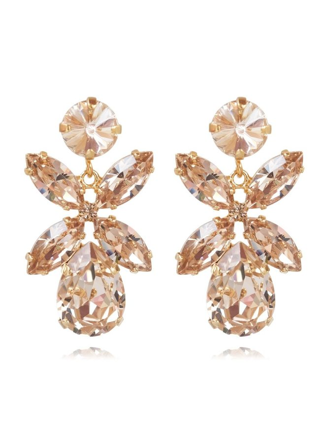 219871 Mini Dione Earring - Gold Silk