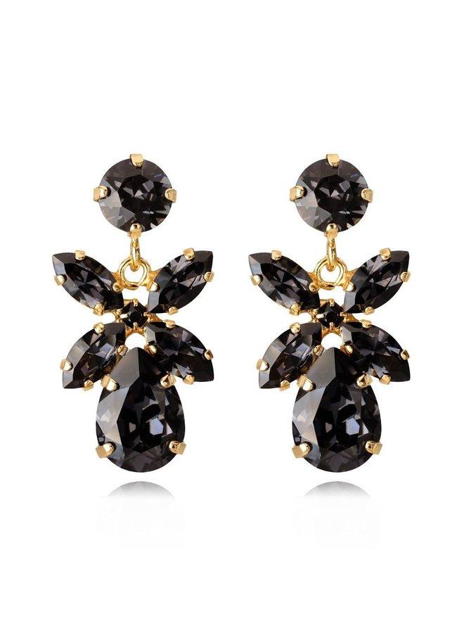 244682 Mini Dione Earring - Gold Graphite