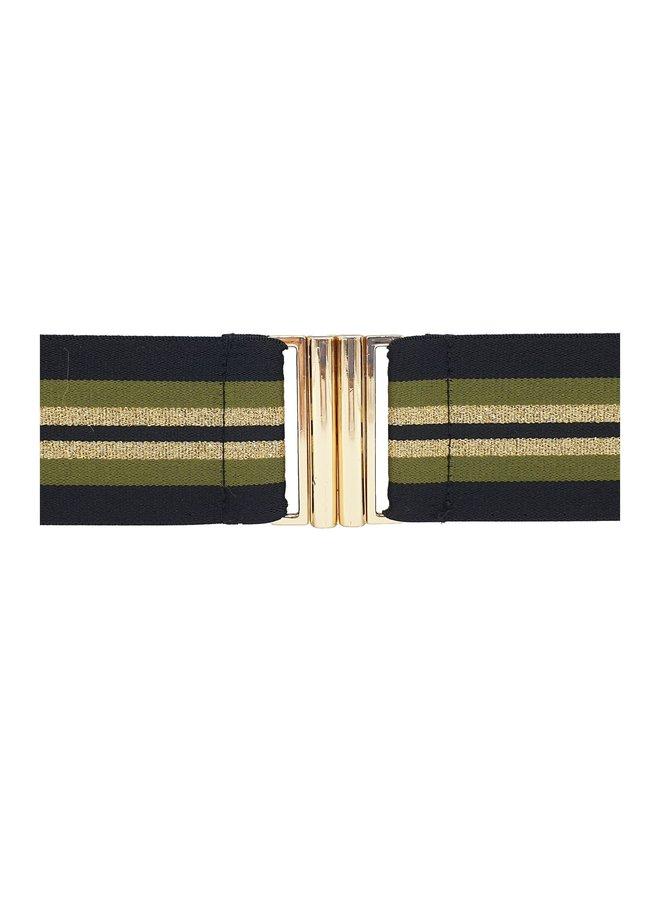 Elastic Belt - Khaki Mix
