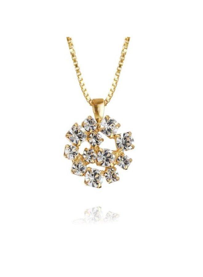 247386 Kassandra Necklace - Gold Crystal