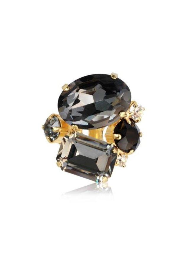 247966 Carolina Ring - Gold Black Combo