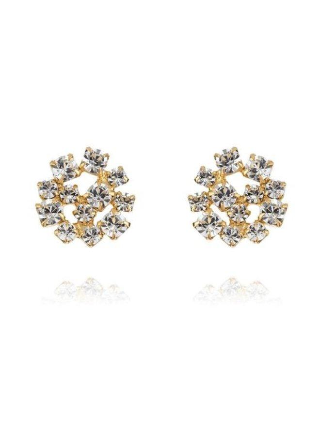 Kassandra Earring - Gold Crystal