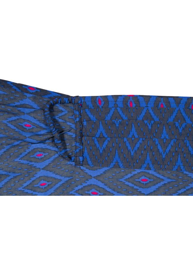 doodiescarf - Ikat grey/blue