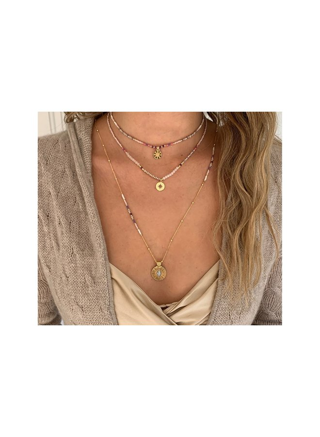 Hebe Necklace - Pink