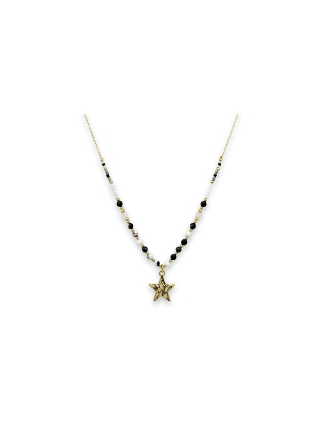 Chandra Necklace - Black/Gold