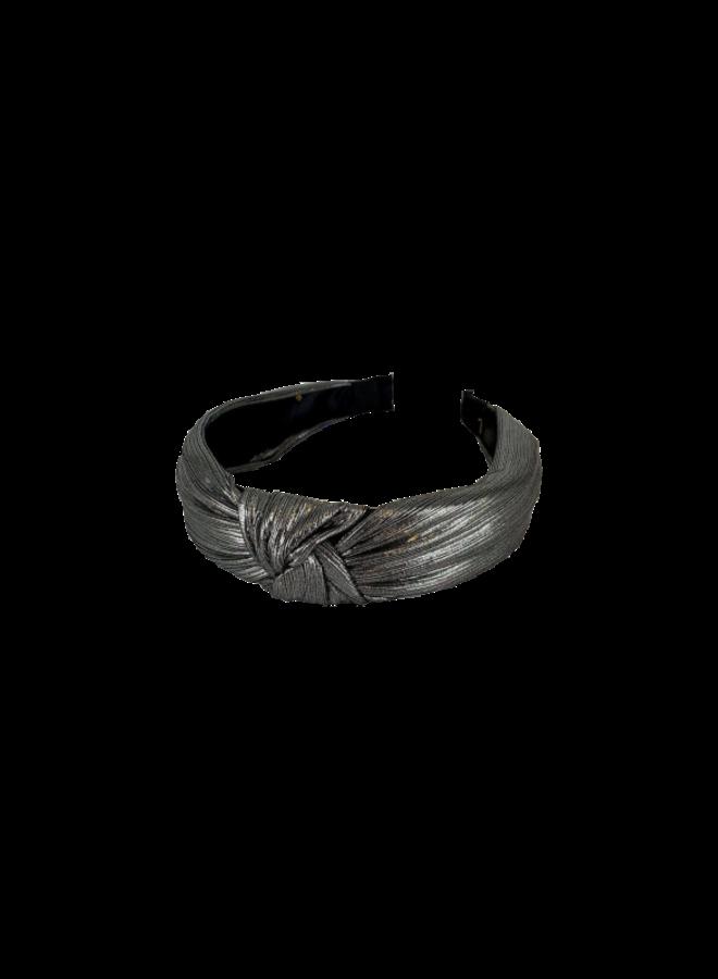 Raquel Metallic Headband - Silver