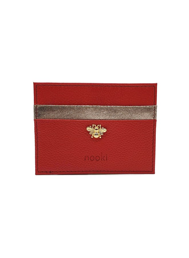 Bee Cardholder - Red