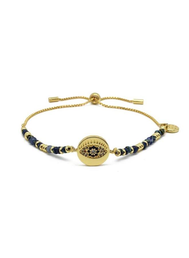Bazooka Bracelet - Navy/Gold