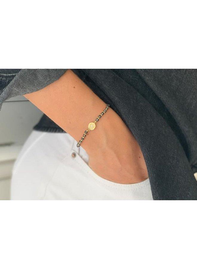 Carimba Bracelet - Black/Gold