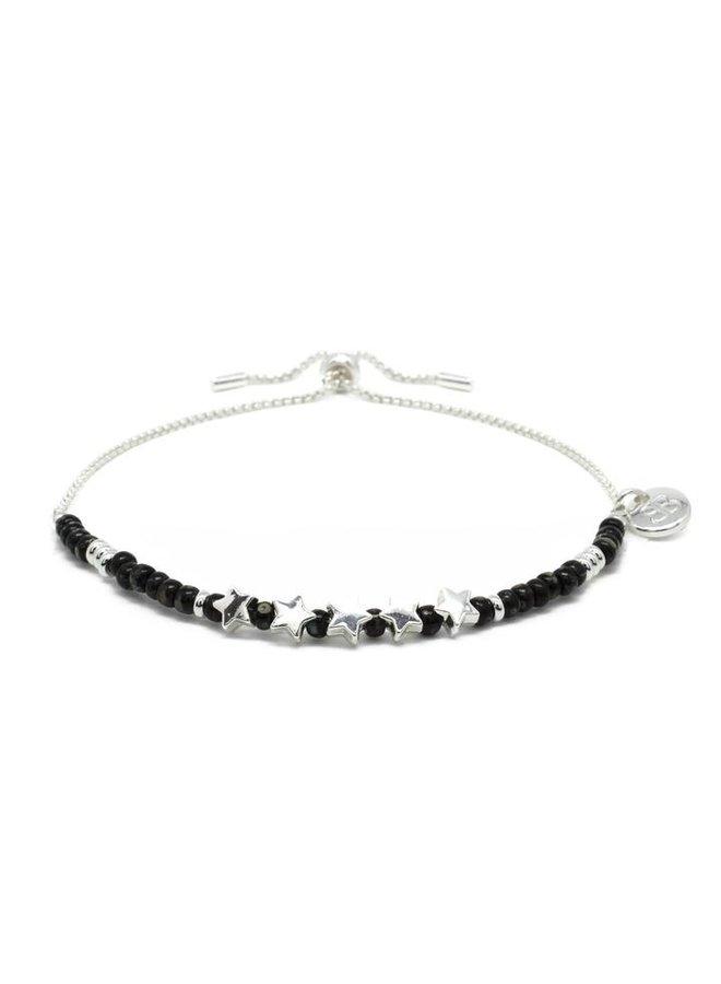 Sax Bracelet - Black/Silver