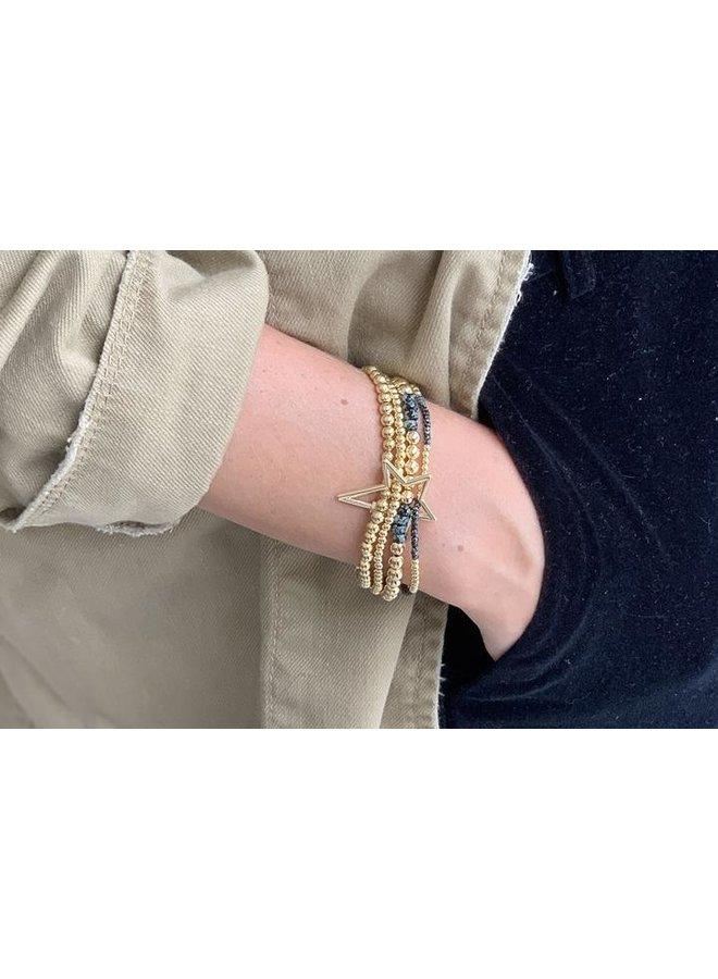 Slide Bracelet - Gold/Black