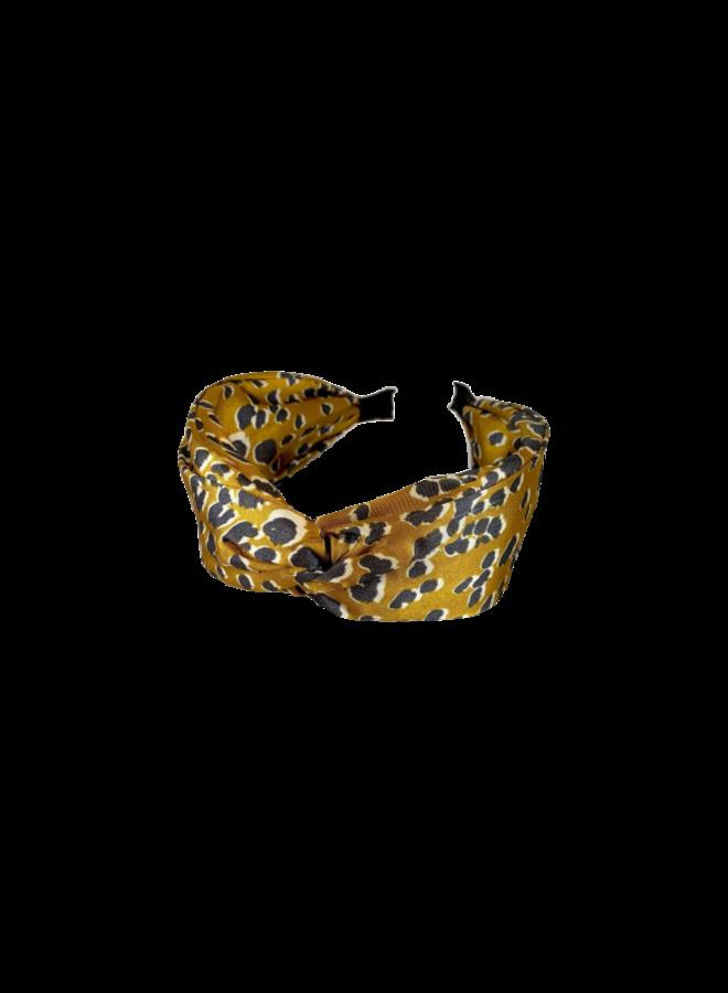 Leo Satin Headband - Mustard
