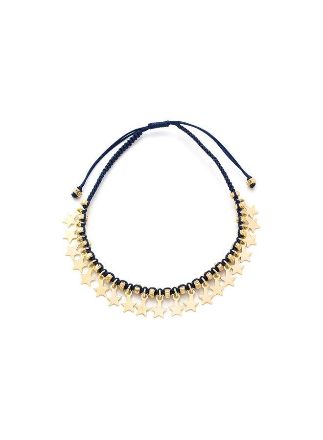 Tombak bracelet - Navy/Gold