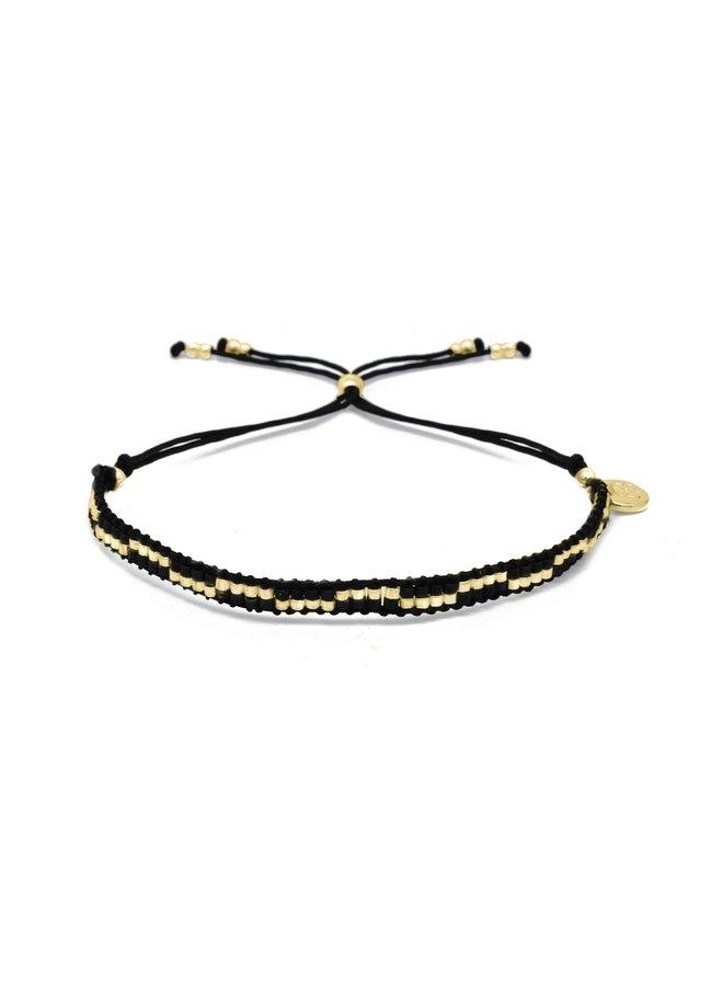 Carnival bracelet - Black/Gold