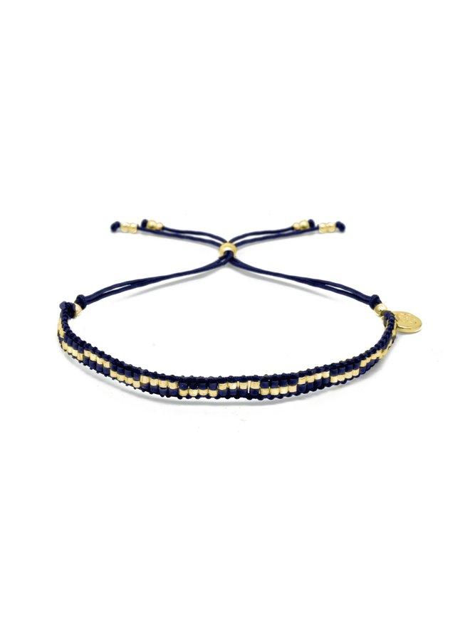 MYPTHNVGD Carnival bracelet - Navy/Gold