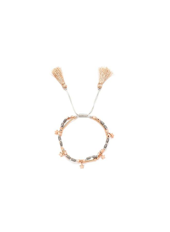 Oboe, Rose Gold, Star Bracelet